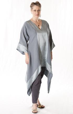Blue Fish Silk Robe Tunic