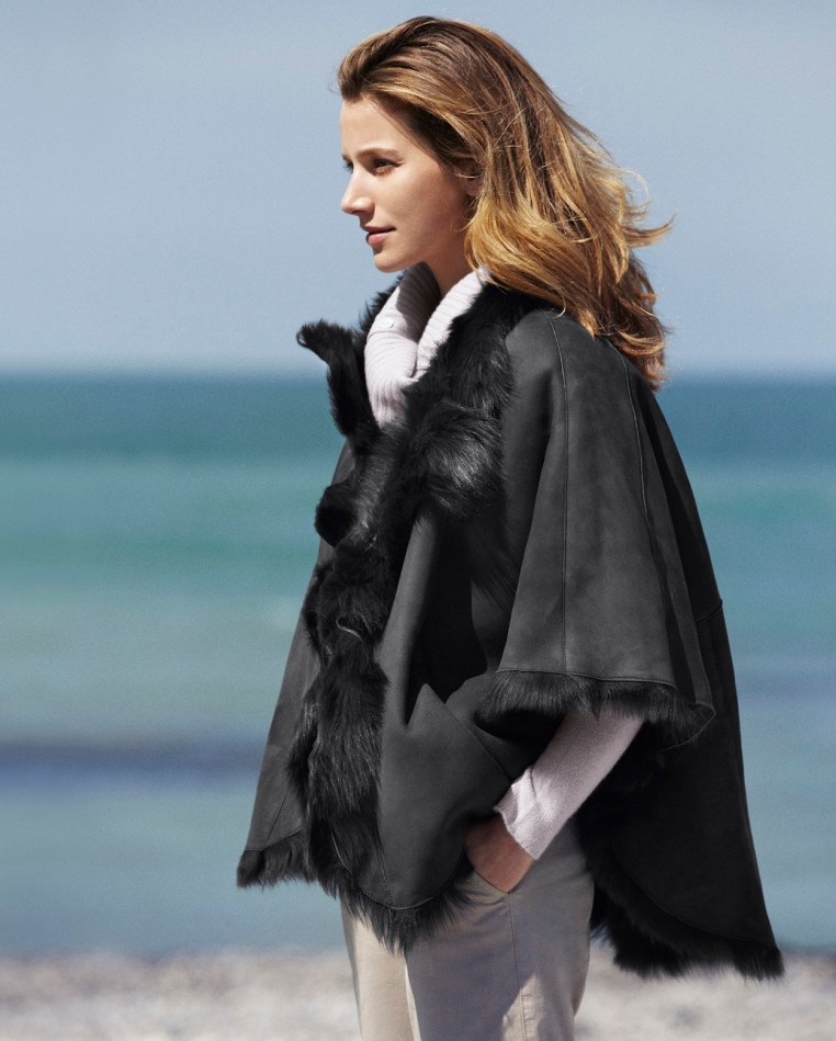 Toscana Lambskin Cape on Plus Black Blog