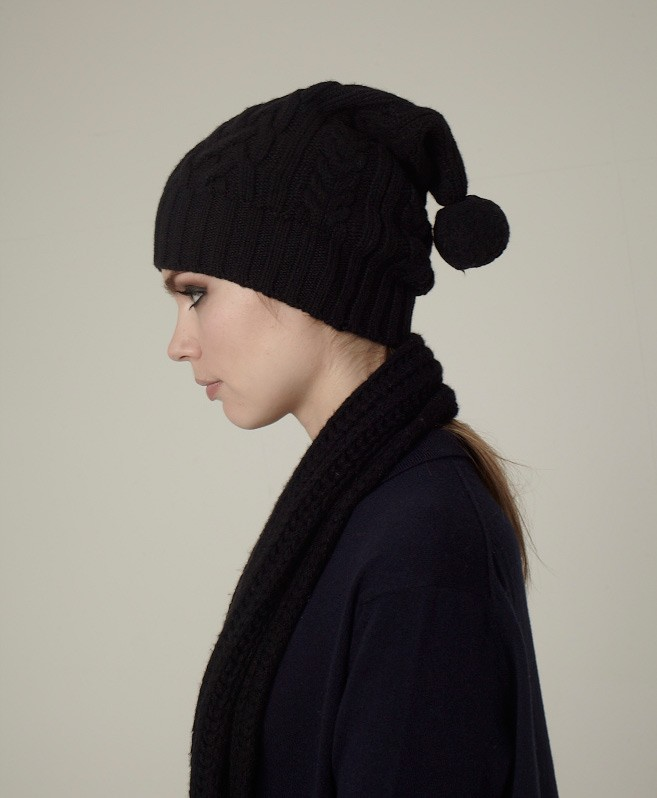 Agnes Cable Hat by ESK Cashmere