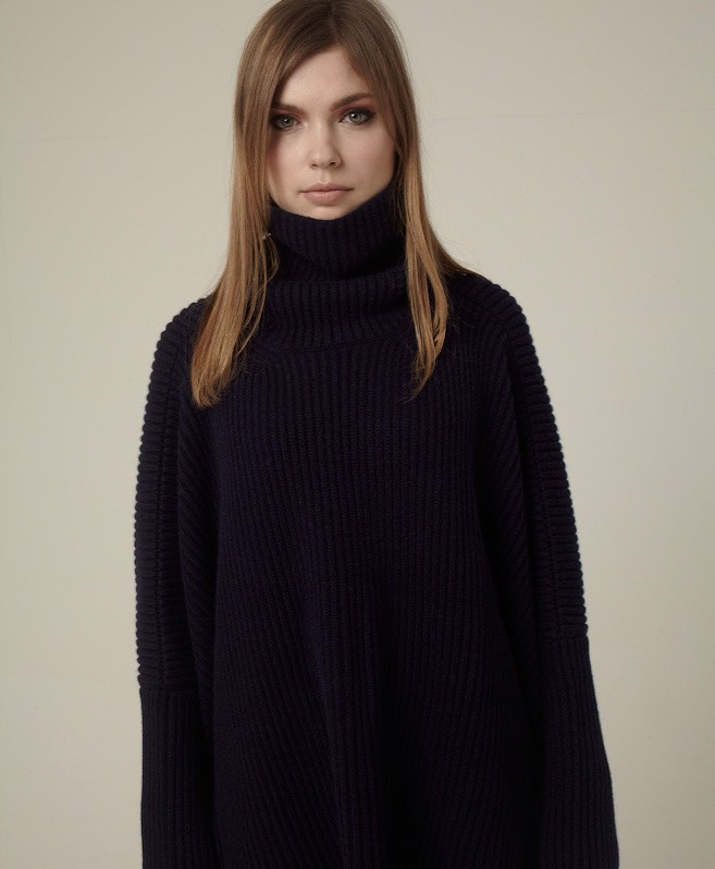 Ingrid Ribbed Sweater by ESK Cashmere