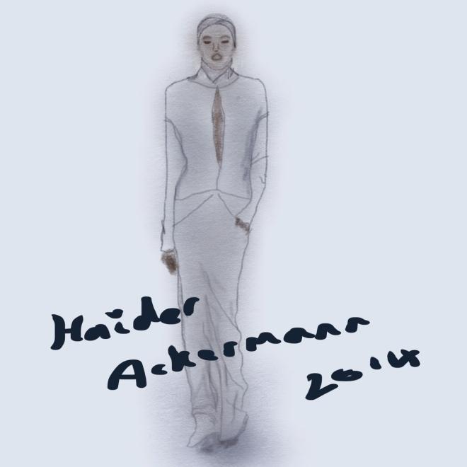 Elle Illustration: Haider Ackerman Winter 2014