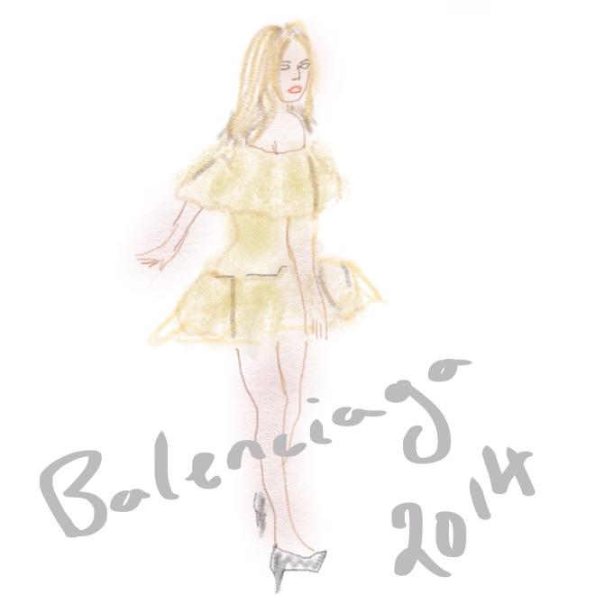 Georgia-May Jagger in a Balenciaga Spring fashion shoot