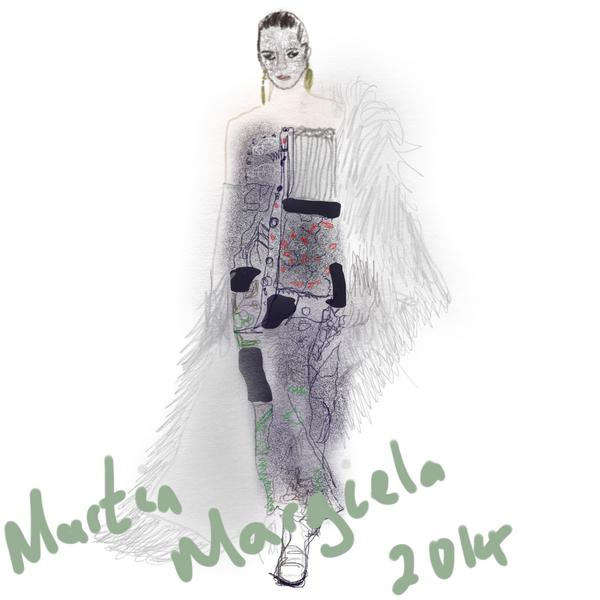 Martin Margiela illustration on plusblack blog