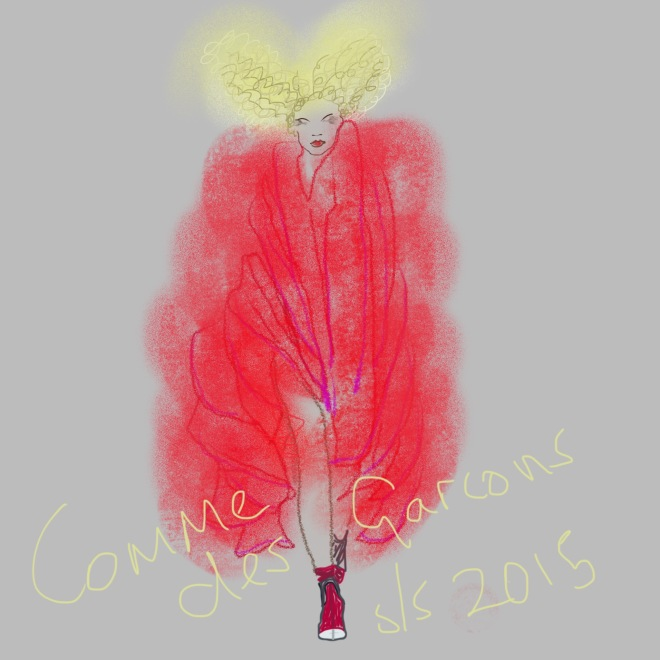 Comme des Garcons illustration on plus black blog