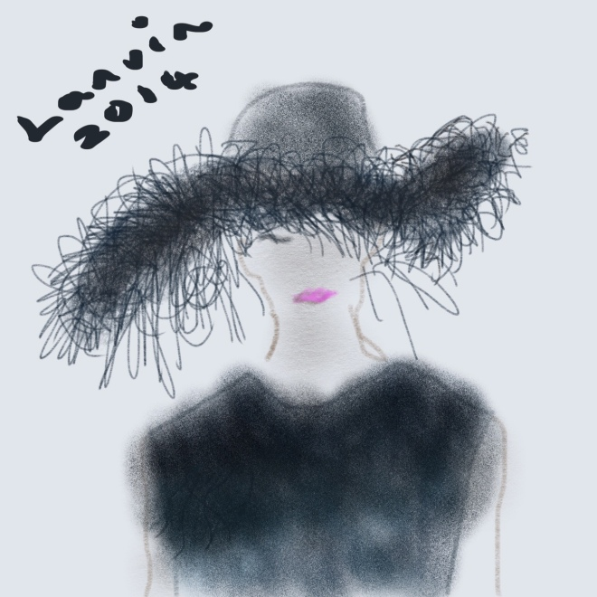Lanvin Wide-brim Feathered Hat A/W 2014