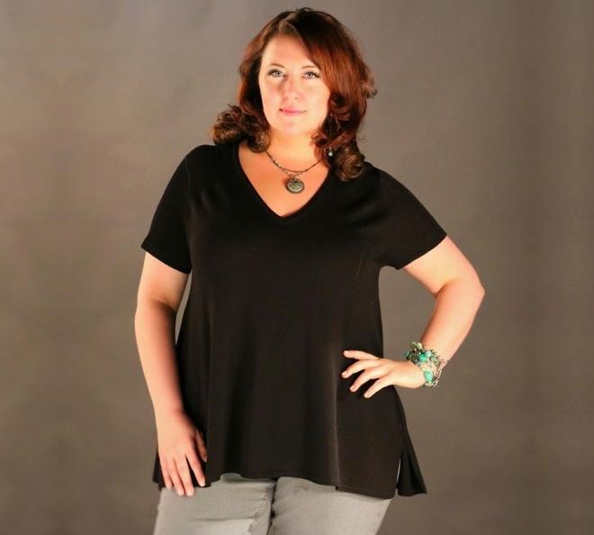 Cushib black drape sweater