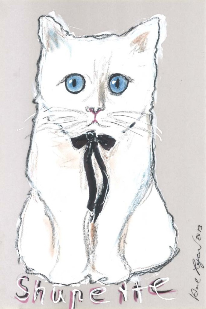 Choupette by Karl Lagerfeld via Fashion Gone Rogue