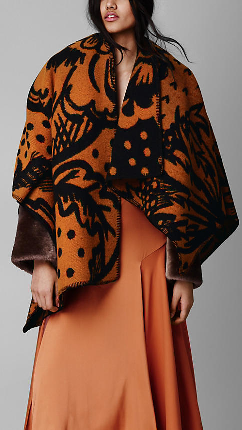 Burberry Thistle Motif Blanket Poncho £895