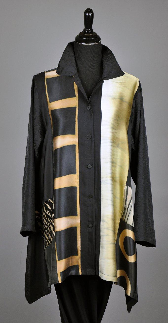 Michael Kane: Shibori Orchid Blouse $498
