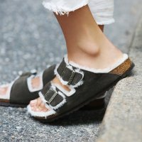 Shearling Birkenstocks?
