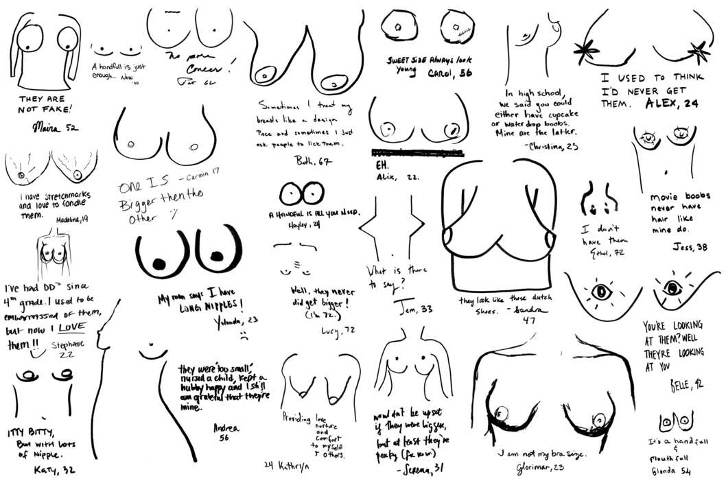 New York Women Draw Their Own Boobs