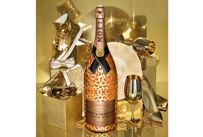 Moët & Chandon Impérial Nectar Rosé Methuselah Leopard Luxury Edition