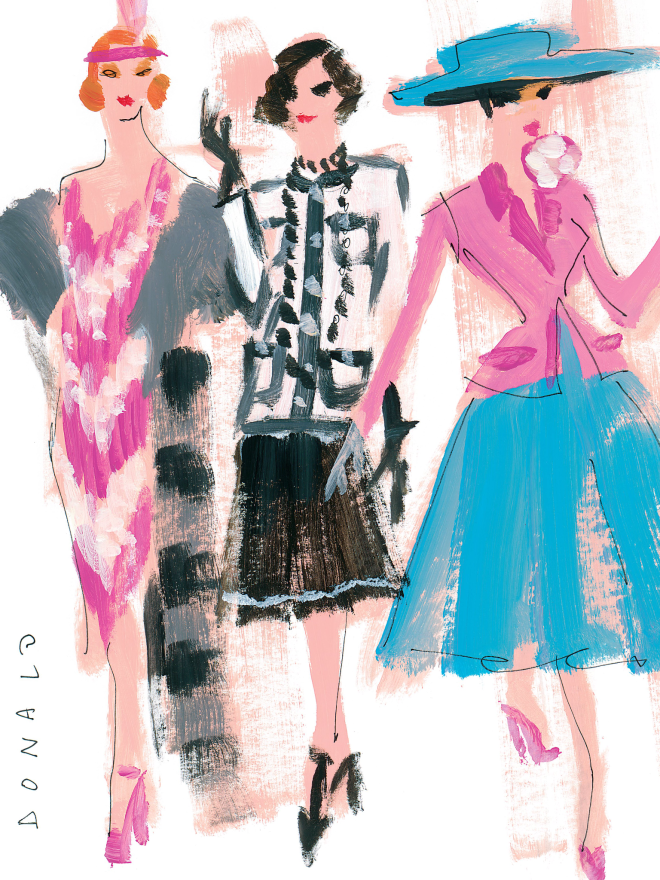 Illustration From UK Harpers Bazaar, January 2015