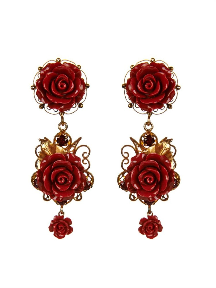 Dolce & Gabbana's rose-adorned earrings  from Matches Fashion