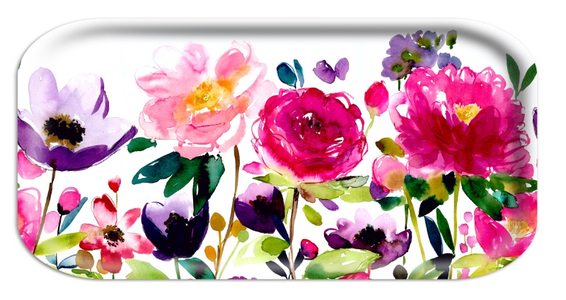 Red Rose Tray by Bluebell Gray
