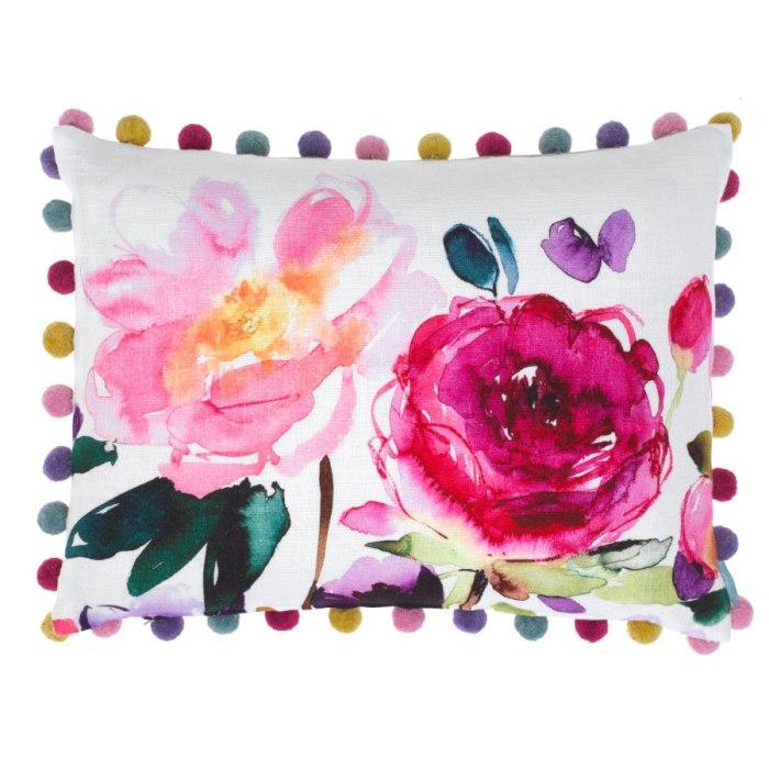 Ebba Ecru Pompom Cushion by Bluebell Gray
