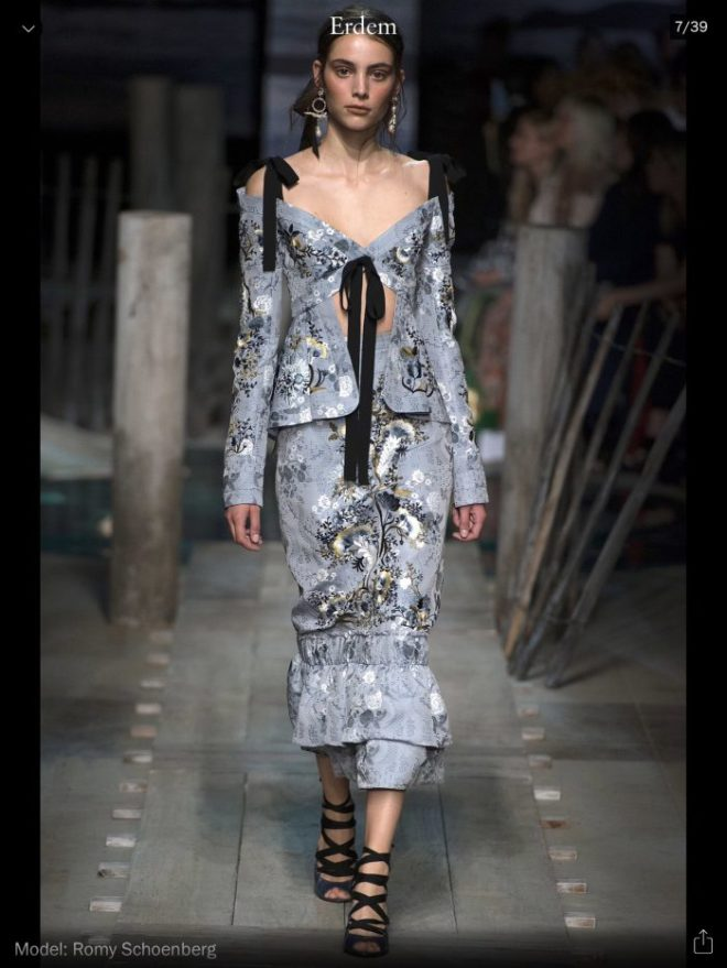 LFW: Erdem, RTW S/S 2017, image courtesy of Vogue Runway