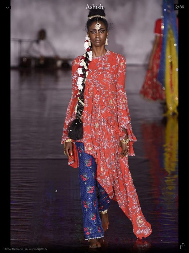 LFW: Ashish, RTW S/S 2017, image courtesy of Vogue Runway