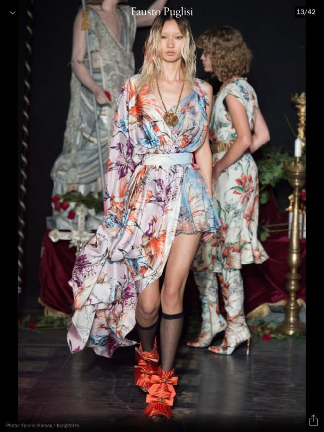 MFW: Fausto Puglisi, RTW S/S 2017, image courtesy of Vogue Runway