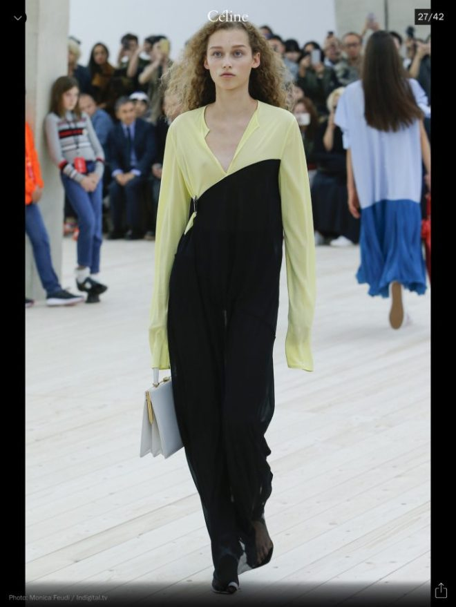 PFW: Celine, RTW S/S 2017, image courtesy of Vogue Runway