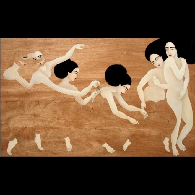 Hayv Kahraman, Musical Chairs, 2010