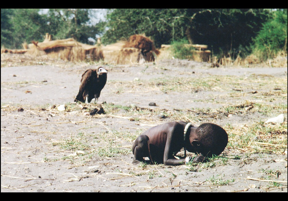 Starving Child and Vulture, 1993, photographer Kevin Carter, for Time Magazine