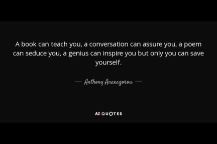 Save Yourself by Anthony Anaxagorou