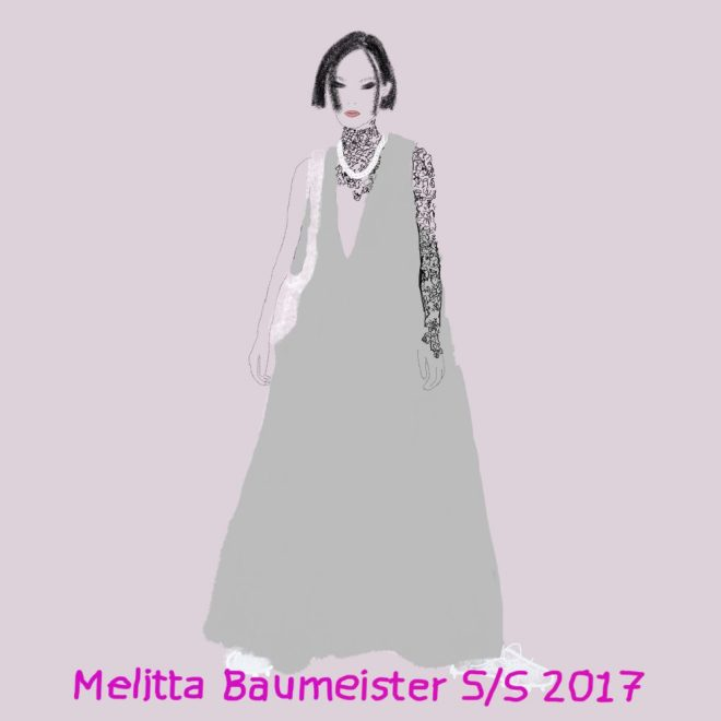 Elle illustration on Plus Black blog: Melitta Baumeister RTW S/S 2017