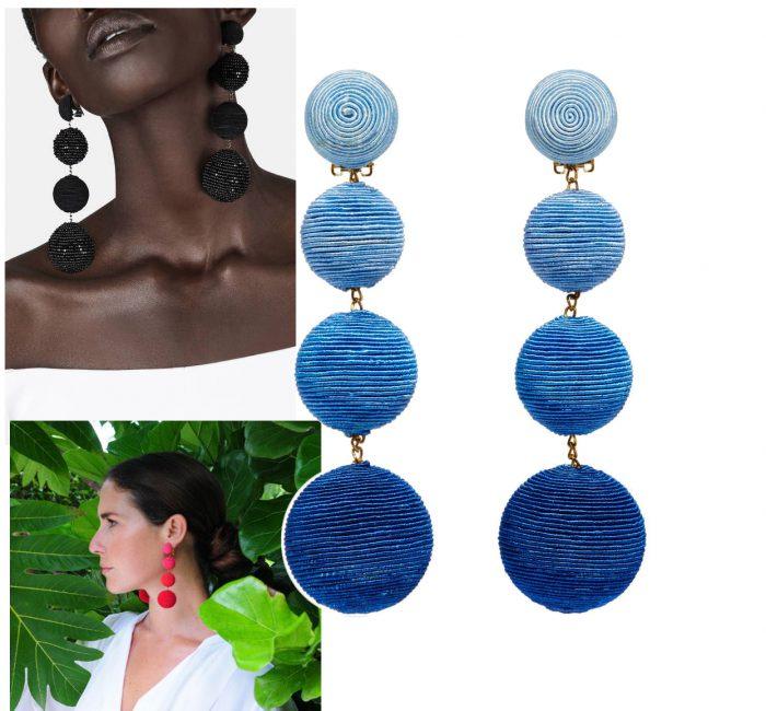Les Bonbons Earrings from Rebecca de Ravenel, $325