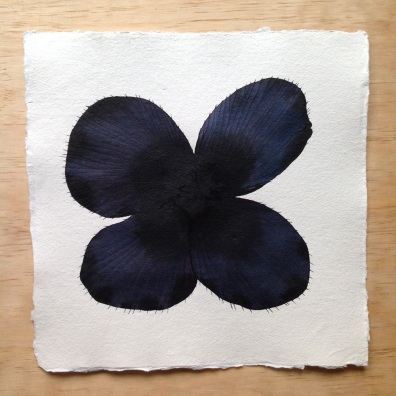 Black Bloom by Stephen Doherty - ink and watercolour paintings on cotton rag, £195