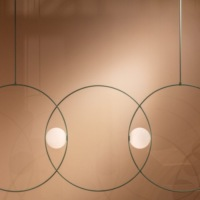 Triple Loop Suspension Light by Michael Anastassiades
