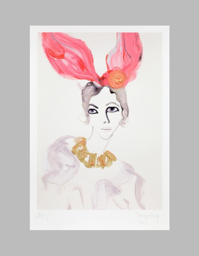 Tanya Ling at FIG: Louis Vuitton Bunny Ears