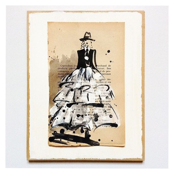 A Tolstoi Miniature on Vintage Paper by © Margarete Gockel Illustration