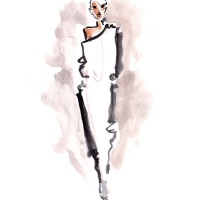 NYFW FW17 Live Sketching by Danielle Meder
