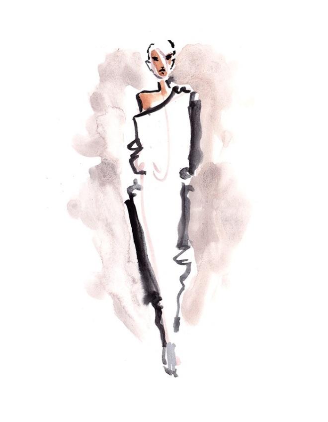 NYFW FW17 Live Sketching Portfolio by Danielle Meder