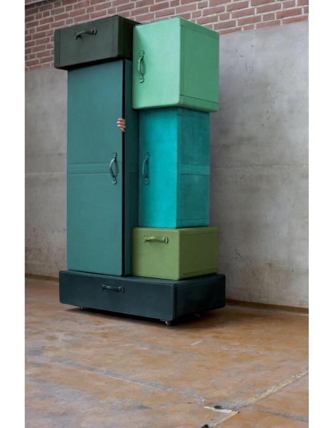 Maarten De Ceulaer: Pile of Suitcases for Nilufar Gallery 2009