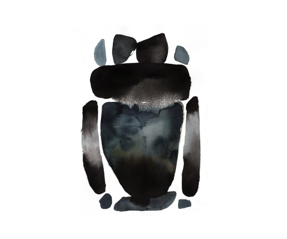 Illustration: Rick Owens Menswear A/W 17 By Emma Larsson @zebrakadebra (Instagram)