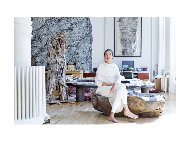 Artist Michele Oka Doner At home