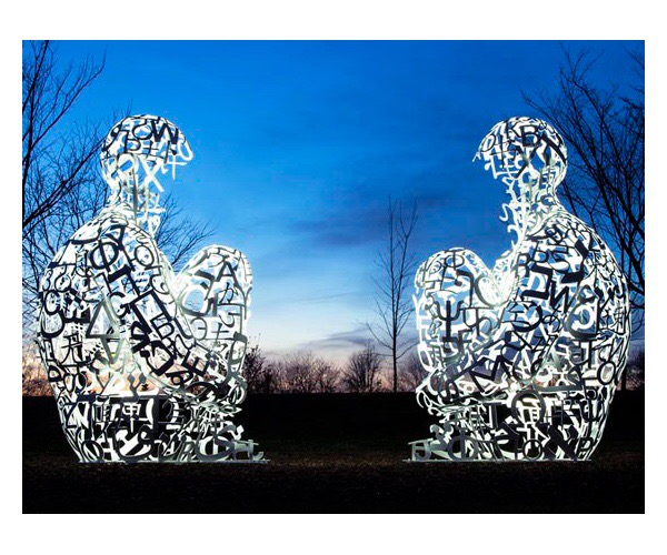 Spiegel I and II, from the Nomade series by Jaume Plensa