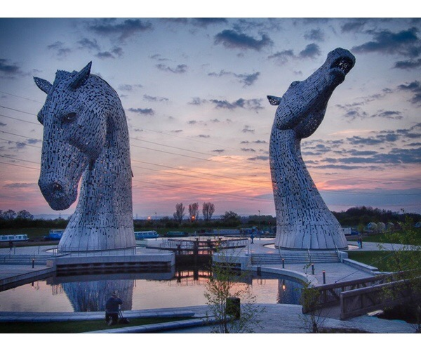 The Kelpies by Andy Scott, Scotland