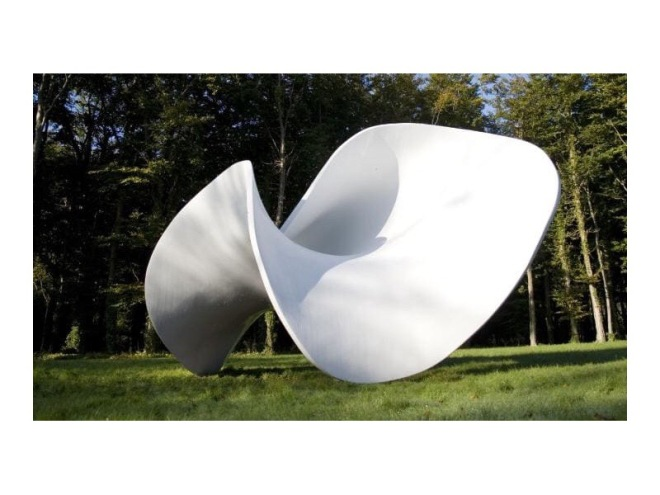 Curve to Point by Eilís O'Connell, Goodwood Sculpture Park, West Sussex.