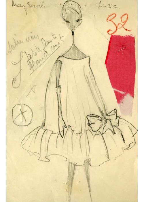 Balenciaga Atelier Sketch, 1958