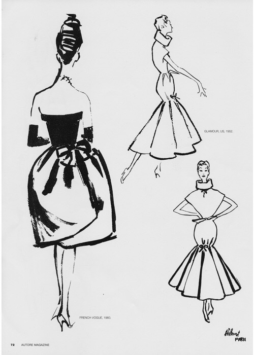 Balenciaga illustrated by Bernard Blossac, 1960