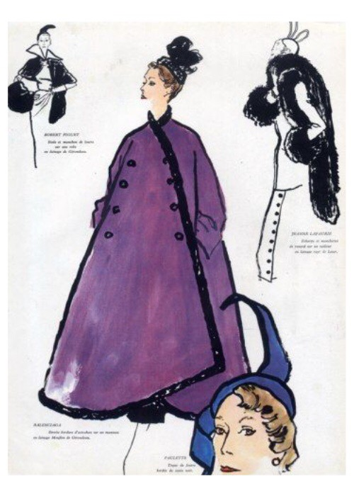 Balenciaga illustrated by Bernard Blossac, 1949