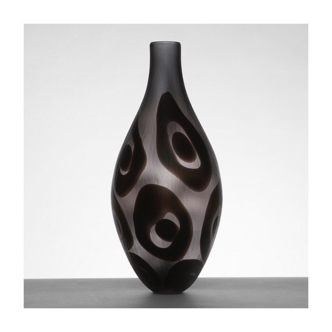 Trails Bottle In Grey by Simon Moore, £750 Image Courtesy Vessel Gallery