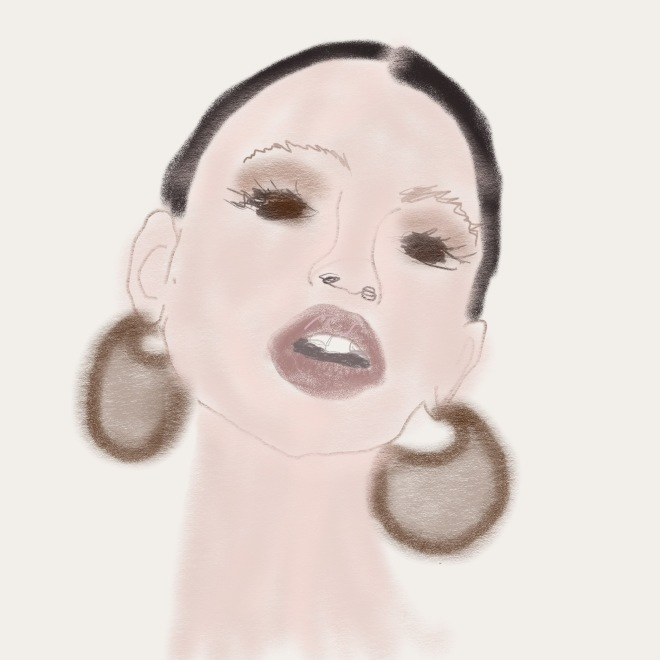 Elle Illustration: Beautiful Face