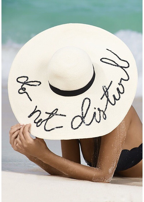Sunny Do Not Disturb Hat by Eugenia Kim