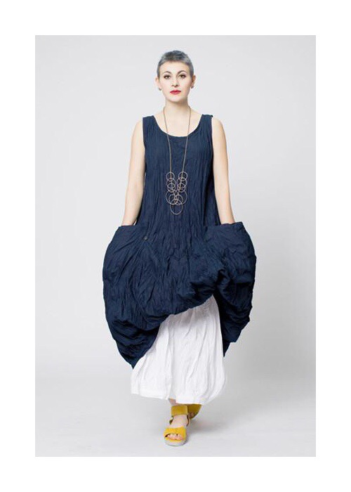 N/S FAB DRESS in Navy Carnaby S/S17 Kaliyana at Shonmodern