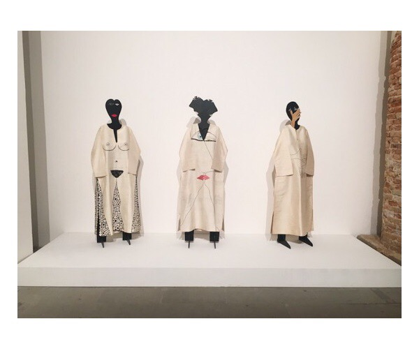 Huguette Caland Pierre Cardin Caftans at the 57th Venice Biennale.