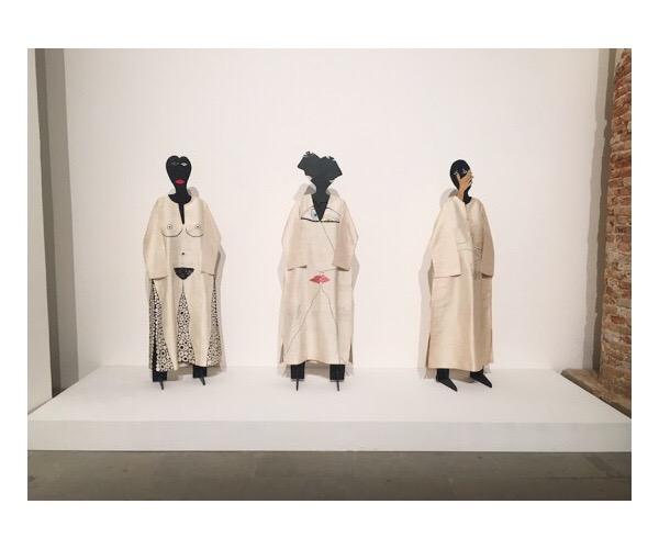 Huguette Caland Pierre Cardin Caftans at the 57th Venice Biennale.